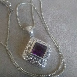 Sterling~Amethyst necklace